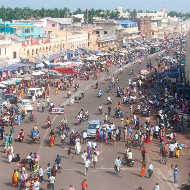 """Streets of Puri"" stock image"