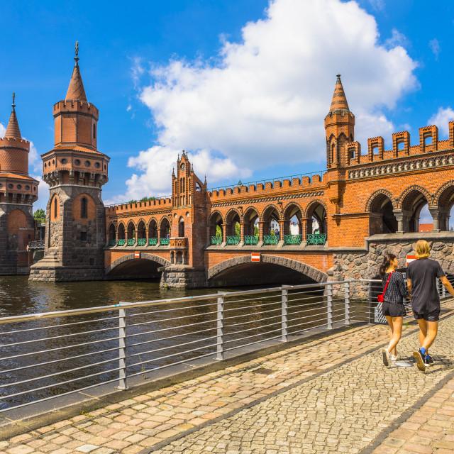 """Oberbaum Bridge, Berlin, Germany, Europe"" stock image"