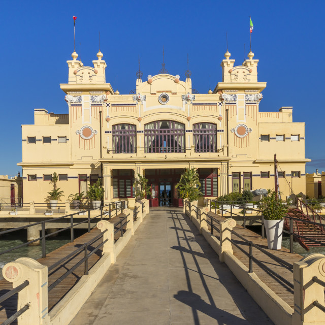 """""""The Antico Stabilimento Balneare building (also known as 'Charleston') at..."""" stock image"""