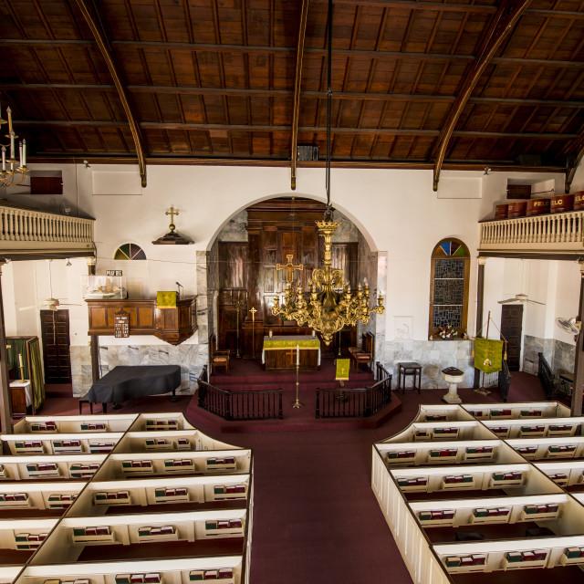 """Historic Frederick Lutheran Church, Charlotte Amalie, St. Thomas, US Virgin..."" stock image"