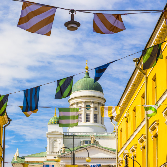 """Helsinki Cathedral in Senate Square, Helsinki, Uusimaa, Finland, Scandinavia,..."" stock image"