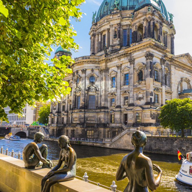"""""""Berliner Dom (Berlin Cathedral) on the River Spree, Berlin, Germany, Europe"""" stock image"""