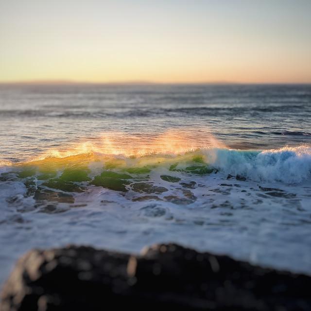 """Sunset Break"" stock image"