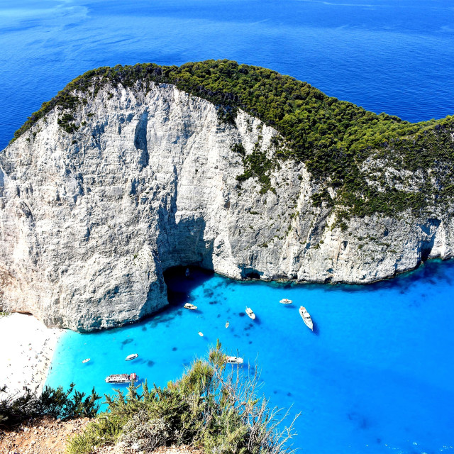 """Zakynthos Shipwreck cove"" stock image"
