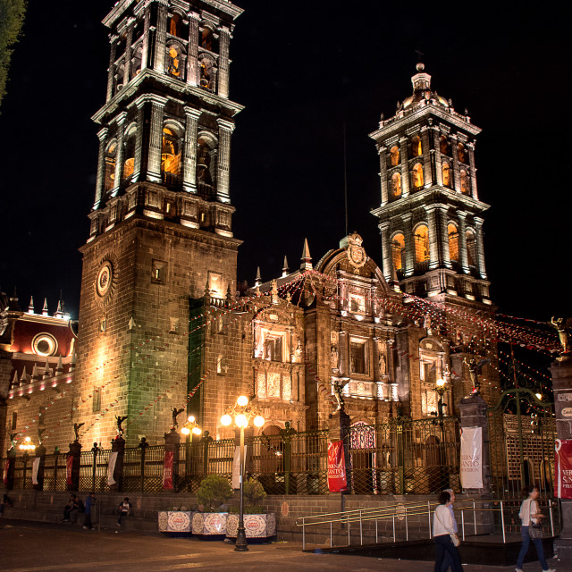 """""""Cathedral of Puebla"""" stock image"""