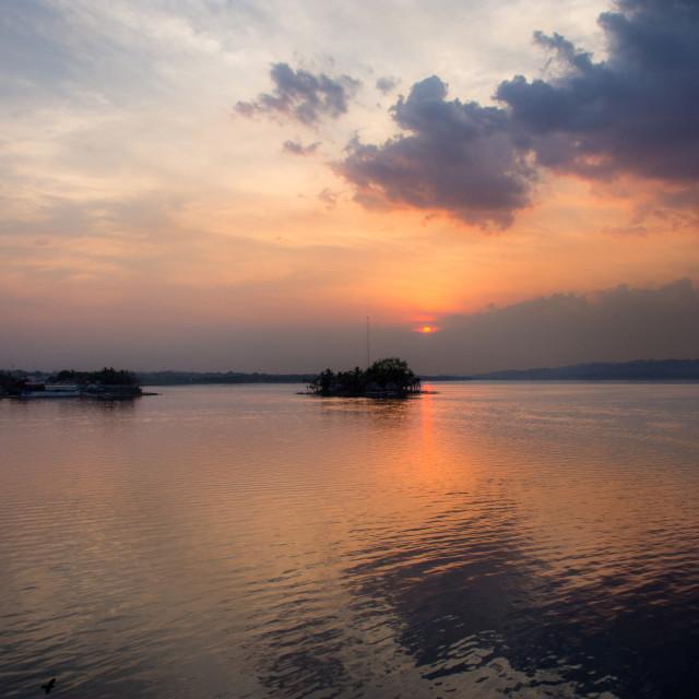 """Looking over Lake Petén Itza"" stock image"