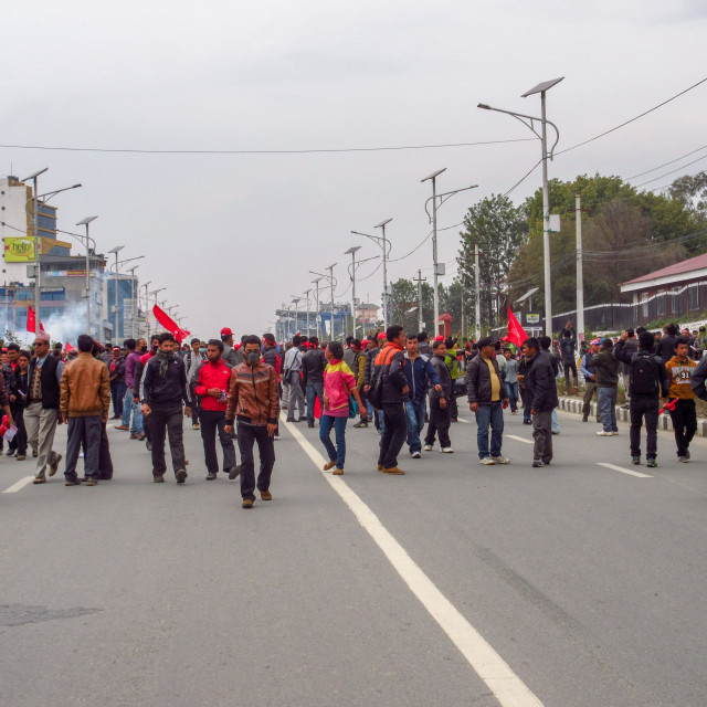 """Crowd of Protestors"" stock image"