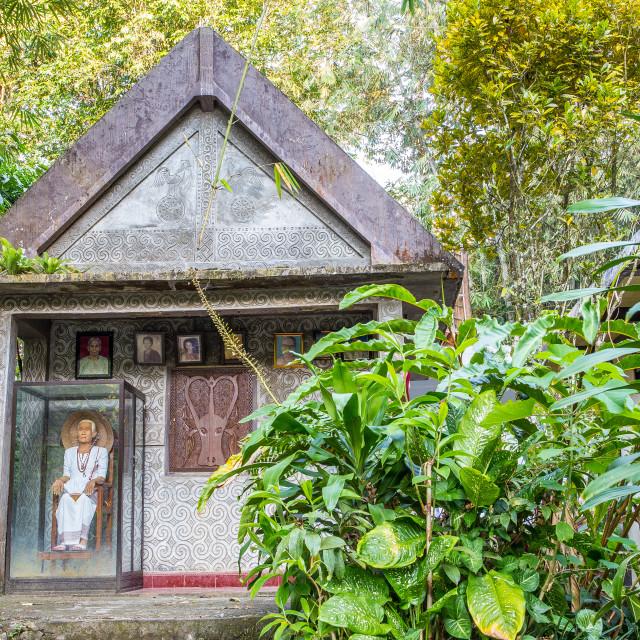 """""""Ancient Torajan Grave in Ke'te Kesu, Tana Toraja"""" stock image"""