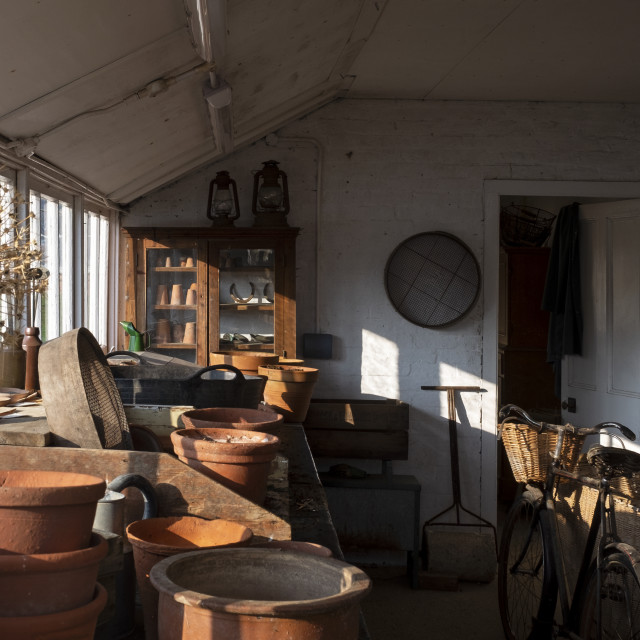 """""""Spring sun in the Potting Shed"""" stock image"""