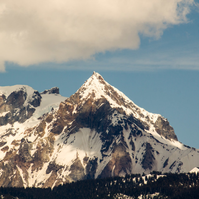 """pointy mountain in Squamish on sunny day"" stock image"