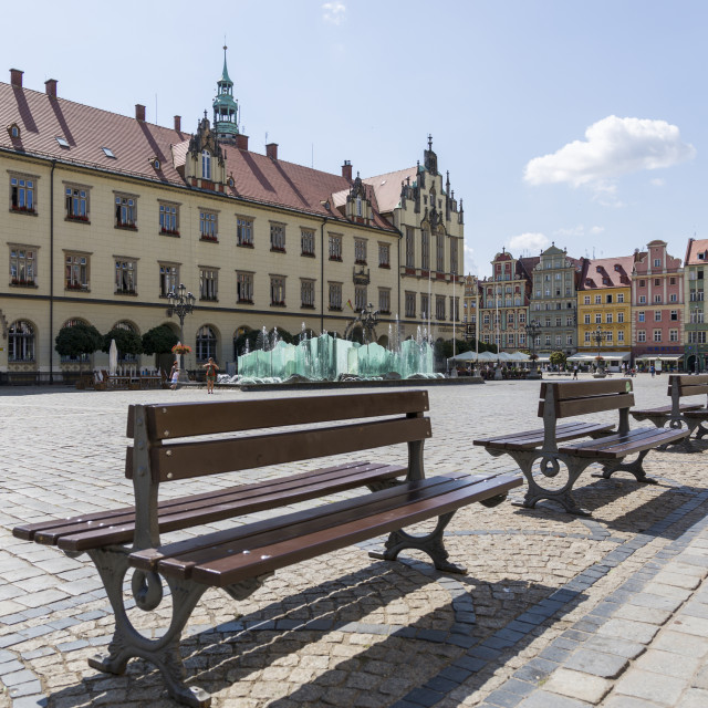 """""""Wroclaw, Poland - July 09, 2018: Market Square in the center of Wroclaw, Poland"""" stock image"""