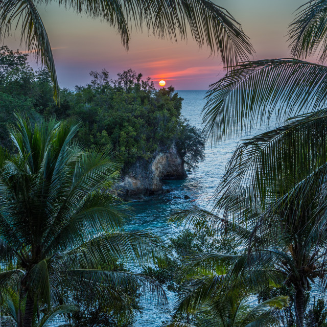 """""""Sunset in Malenge, Togean Islands, Sulawesi, Indonesia"""" stock image"""