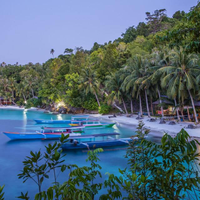 """Malenge, Togean islands, Sulawesi, Indonesia"" stock image"