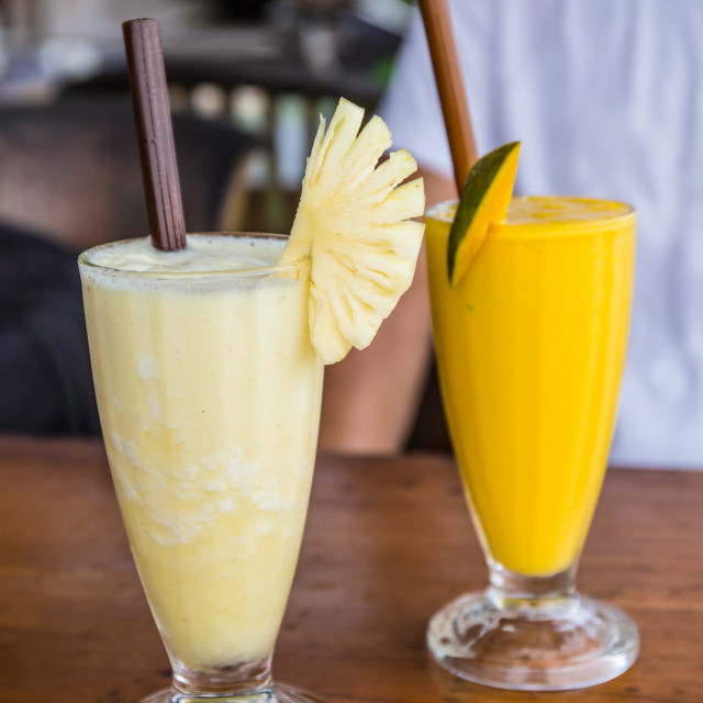 """""""Pineapple and Mango Juices"""" stock image"""