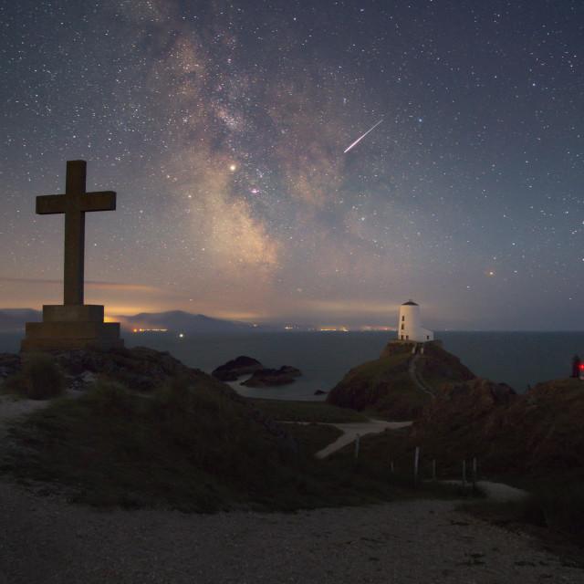 """Milkyway core Llanddwyn Island"" stock image"