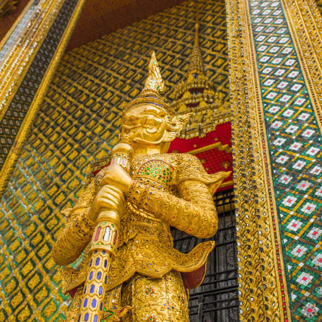 """Grand Palace Temple Guard"" stock image"