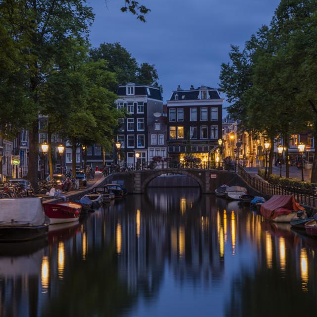 """""""Lijnbaansgracht in Amsterdam, Netherlands"""" stock image"""