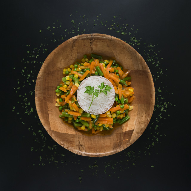 """Rice with vegetables"" stock image"
