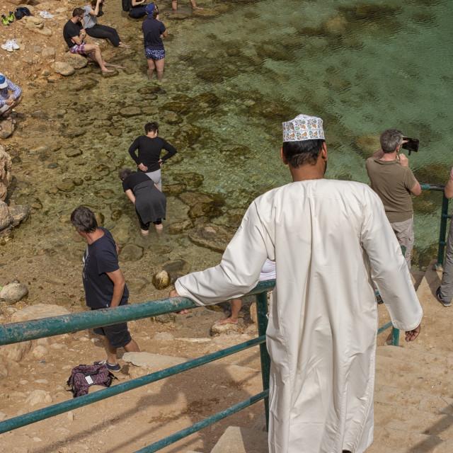 """""""Bimmah Sinkhole in Oman"""" stock image"""