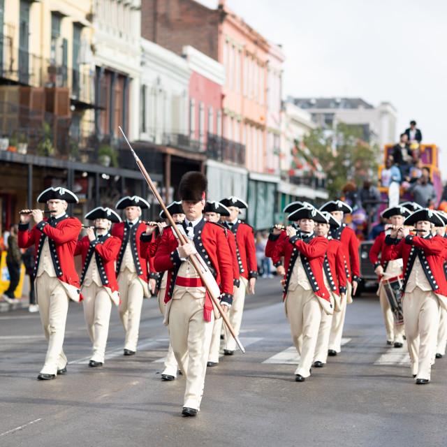 """The Bayou Classic Parade 2018"" stock image"