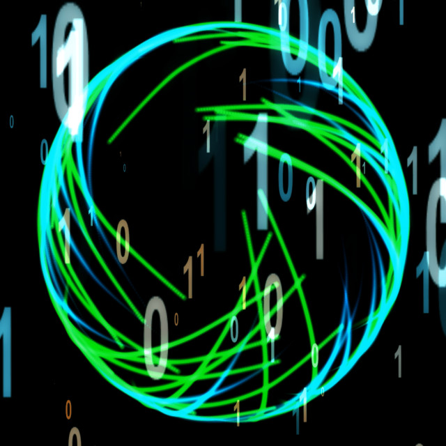 """Particle Illustration of Digitalization"" stock image"