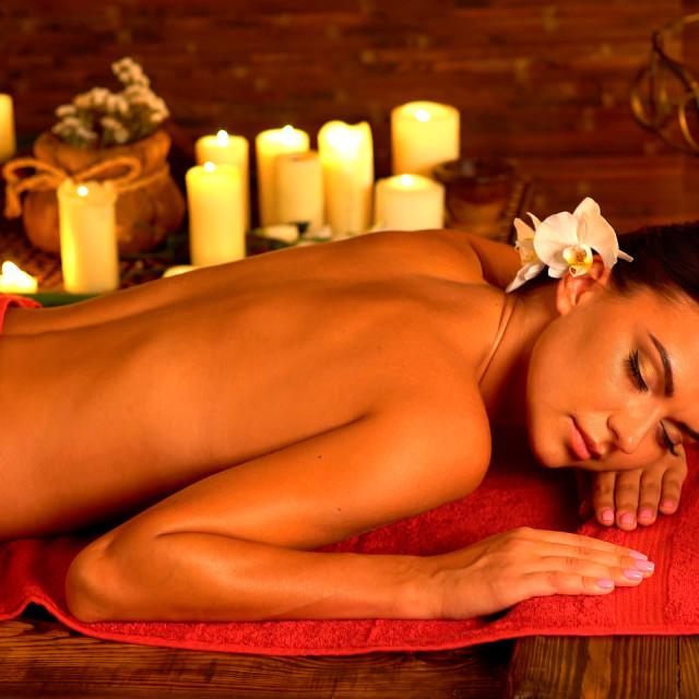 """Massage to restore women after childbirth"" stock image"