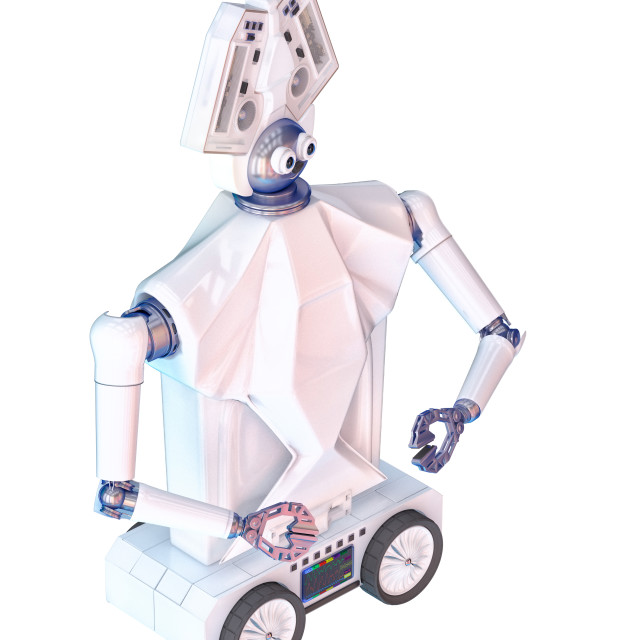 """Robot for physical education kid minute"" stock image"