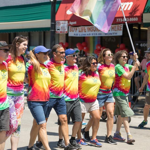 """LGBTQ Pride Parade 2018"" stock image"