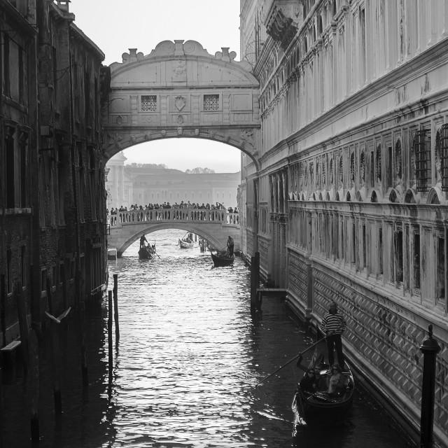 """Bridge of Sighs"" stock image"