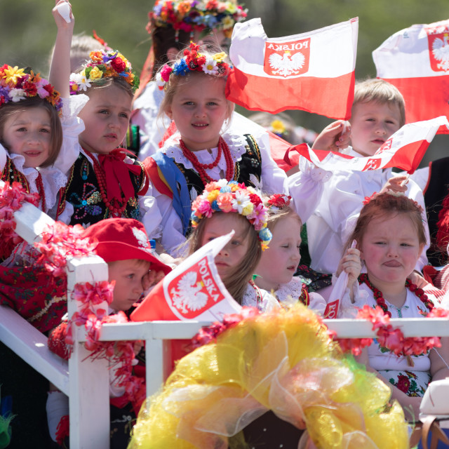 """""""The Polish Constitution Day Parade 2018"""" stock image"""
