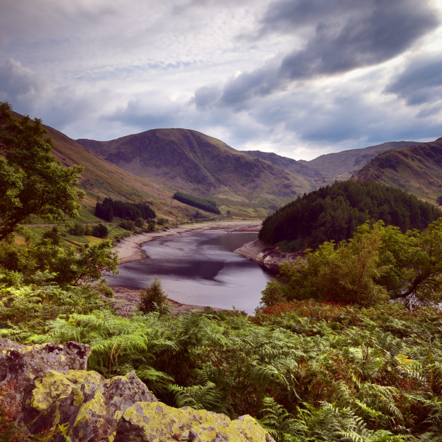 """""""Low water at Haweswater Reservoir"""" stock image"""