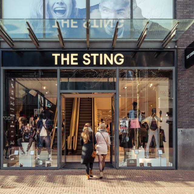 """Entering The Sting Megastore"" stock image"