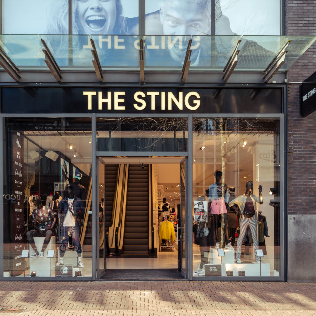 """The new Sting Megastore"" stock image"
