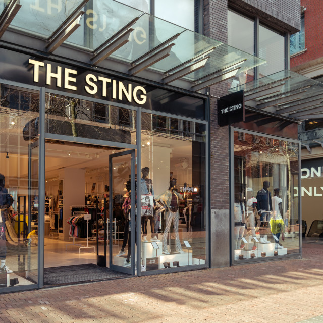 """The new Sting storefront and logo"" stock image"
