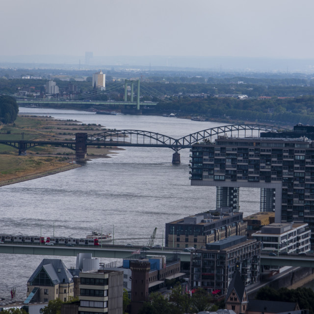 """""""River Rhine, Cologne - Germany"""" stock image"""