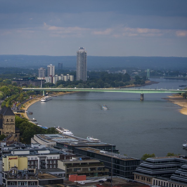 """""""Cologne Cityscape and River Rhine, Cologne - Germany"""" stock image"""