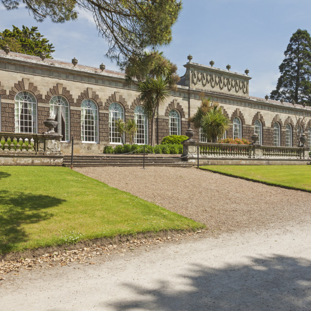 """Orangery (1790), Margam Country Park, Margam, Port Talbot, South Wales, UK"" stock image"