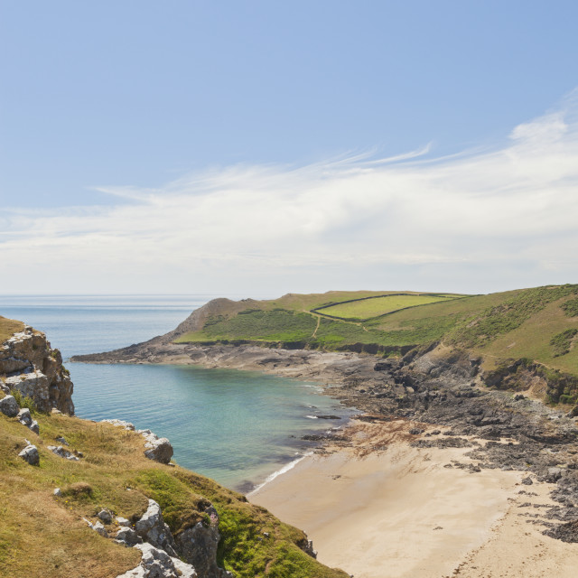 """Fall Bay, Gower Peninsula, Swansea, South Wales, UK"" stock image"
