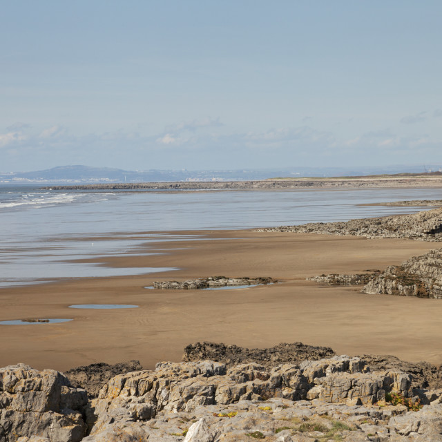 """Rest Bay, Porthcawl, Bridgend, South Wales, UK"" stock image"