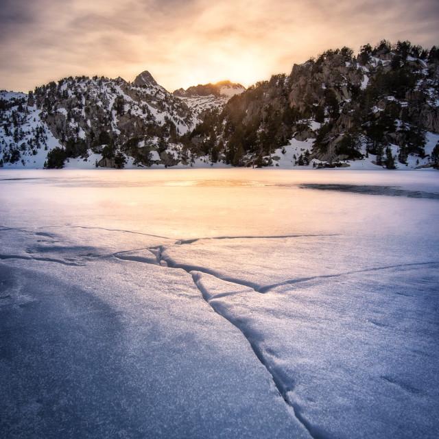 """""""Freezing Sunset"""" stock image"""