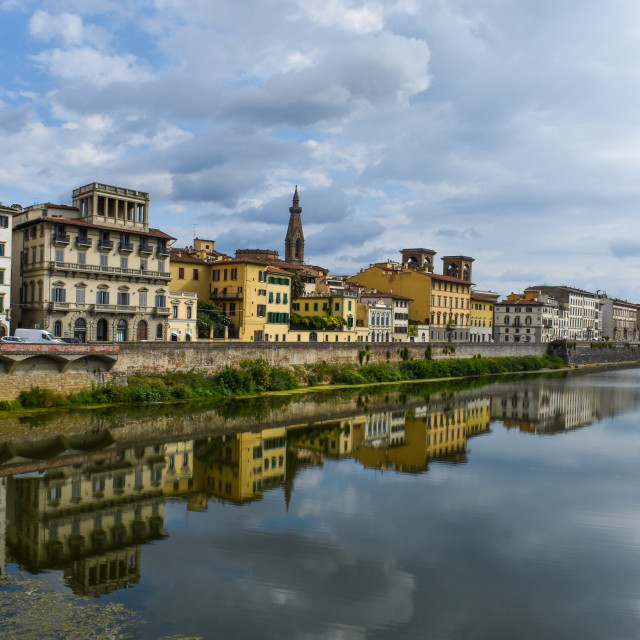 """Florence Reflected"" stock image"