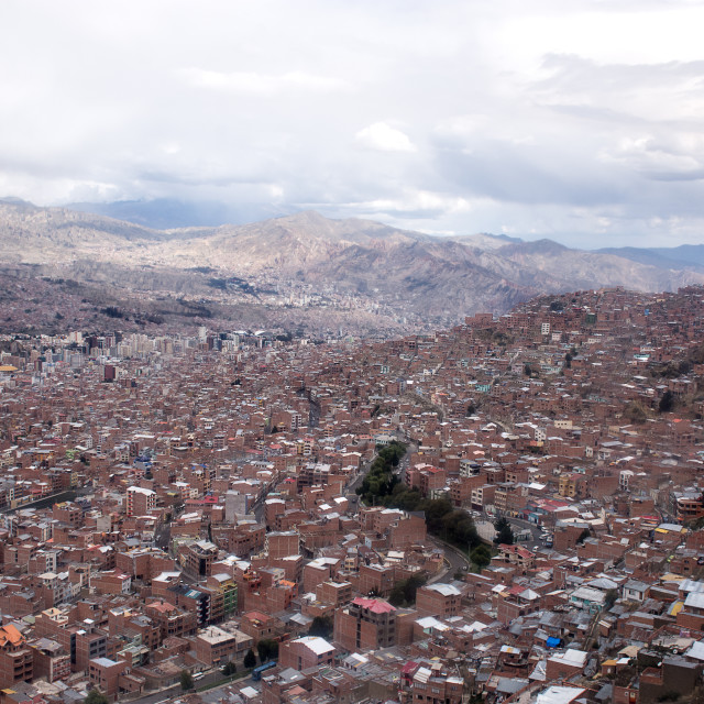 """A panorama of La Paz"" stock image"
