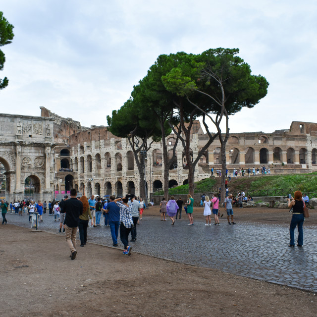"""Going to the Colloseum"" stock image"