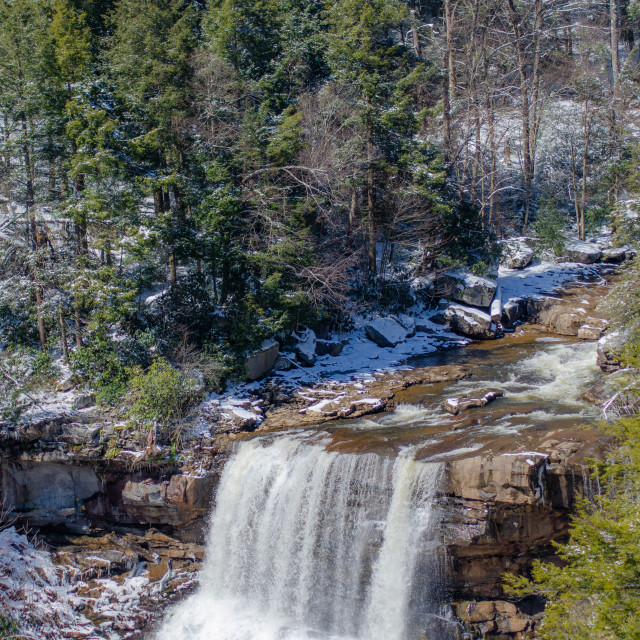 """Blackwater Falls in Winter"" stock image"