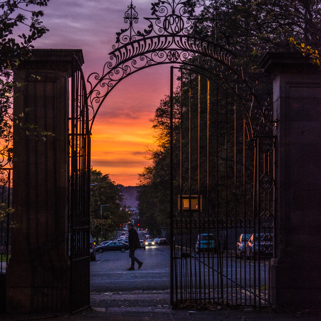 """Sunset, Inverleith Park - Edinburgh, Scotland"" stock image"