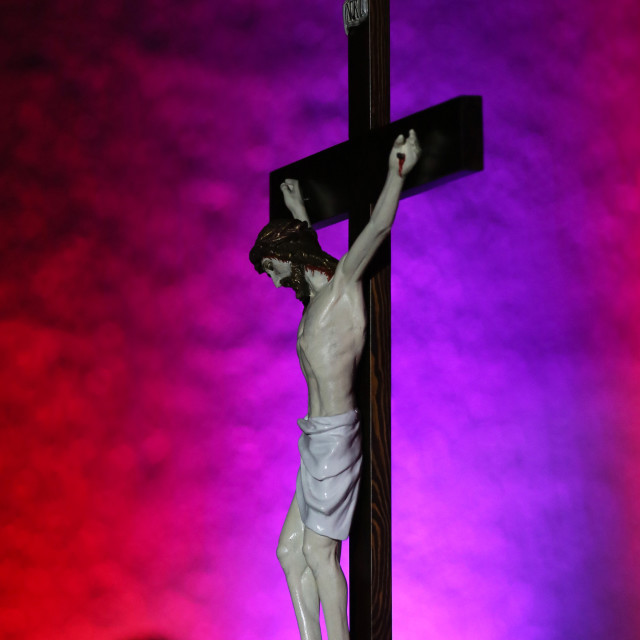 """""""Cross in the church during the cross path"""" stock image"""