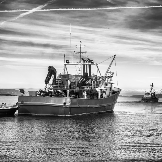 """Two fishing trawlers"" stock image"