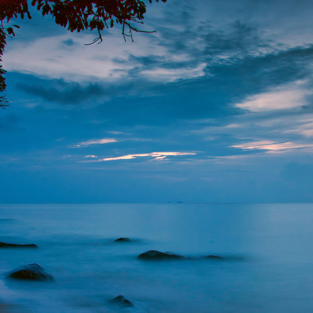 """Blue hours over the ocean"" stock image"