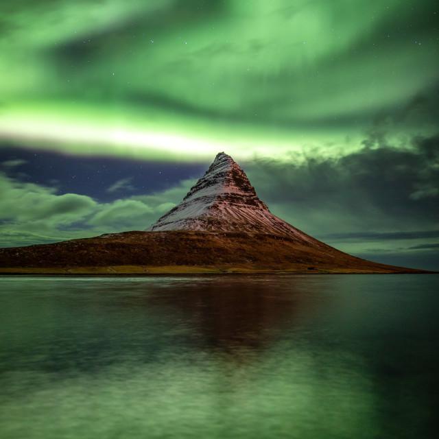"""Kirkjufell Aurora"" stock image"