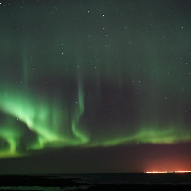 """Icelandic lights"" stock image"